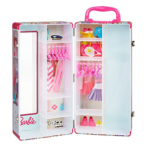 Mallette Dressing  portable pour vêtements de poupée Barbie Klein