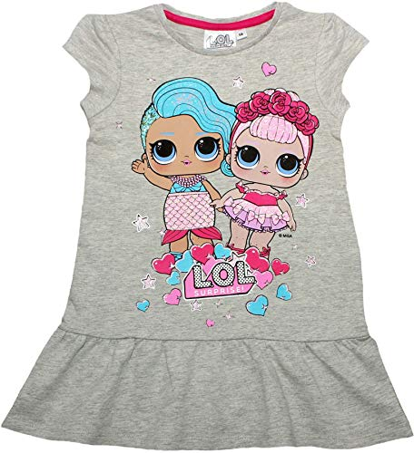 Robe LOL doll été gris chiné